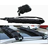 Iztor Inflatable Soft Kayak Roof Rack-Snowboard Rack/Ski Rack/Luggage Carrier / 165 LB Capacity for Driving Load