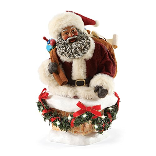 Department 56 Possible Dreams Christmas Hurry Down the Chimney Santa Figurine]()
