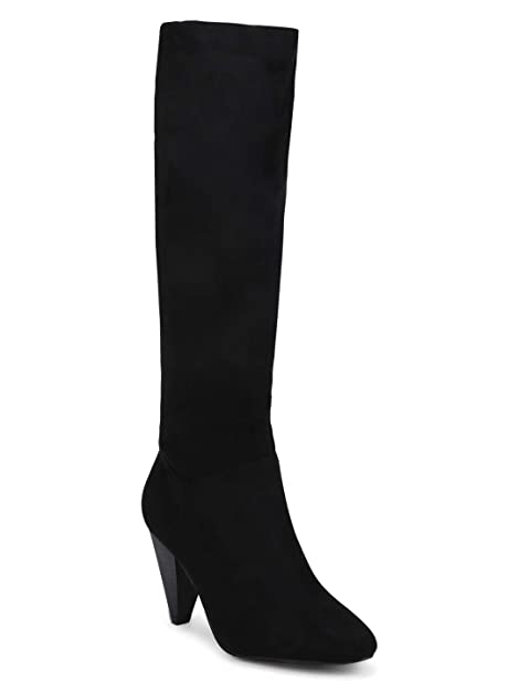 BILLY1 Black Suede Boots