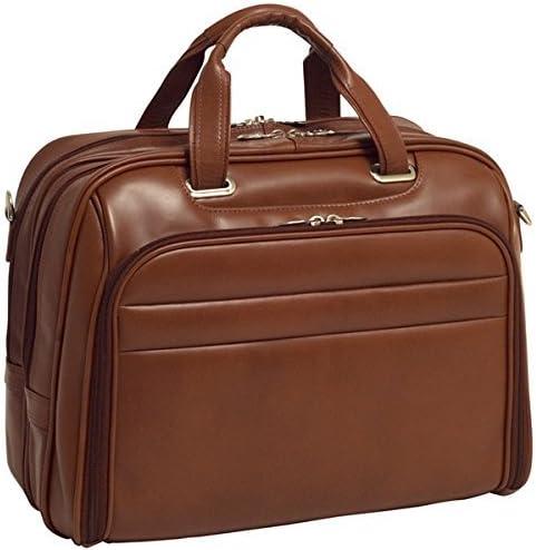 Brown Briefcase 43 cm McKlein Springfield 17 Leather Fly-Through Checkpoint-Friendly Laptop Case