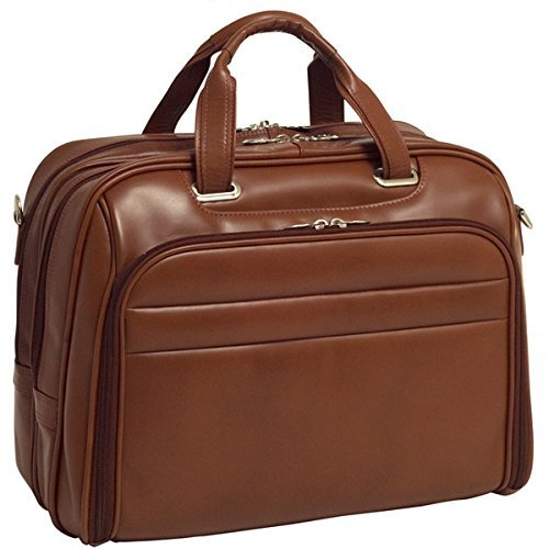 Brand New Mcklein Springfield Fly-Through Checkpoint-Friendly 17'' Leather Laptop Case by McKleinUSA