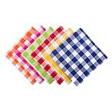 DII 100% Cotton, Basic Everyday 18x18'' Buffet Napkin, Set of 6, Assorted Checkers