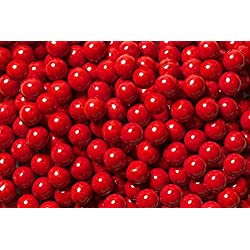 FirstChoiceCandy Sixlets Milk Chocolate Balls (Red, 2 LB)