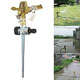 Onner Metal Rotating Water Sprinkler Garden Pipe Hose Irrigation for Lawn Garden Yard, Impulse Garden Sprinkler