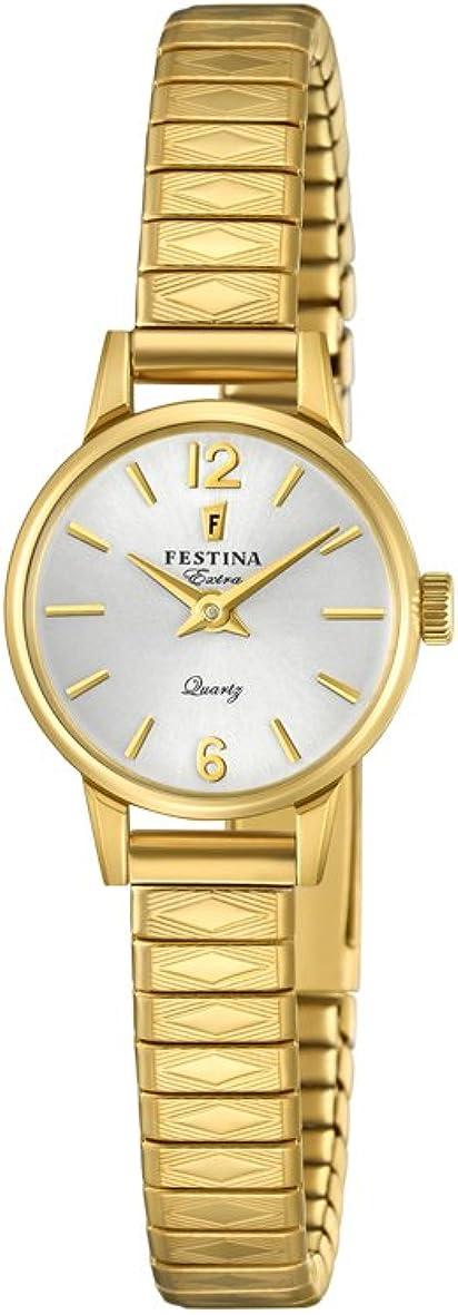 Festina Reloj Análogo clásico para Mujer de Cuarzo con Correa en Acero Inoxidable F20263/1
