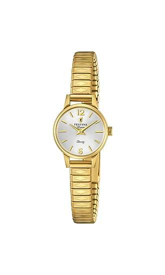 Festina Reloj Análogo clásico para Mujer de Cuarzo con Correa en Acero Inoxidable F20263/1: Festina: Amazon.es: Relojes