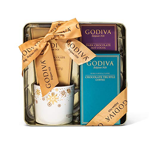 Godiva Hot Chocolate and Coffee Gift Set   Contains Milk...