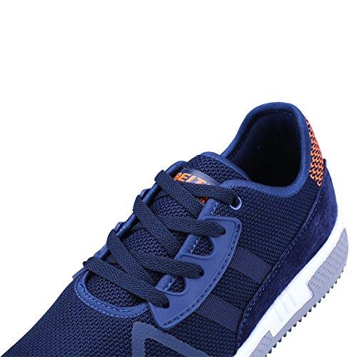 Nachrichten Leder Sportschuhe QZbeita Running Sport Breathable Turnschuhe Man Bequeme Walking Blau