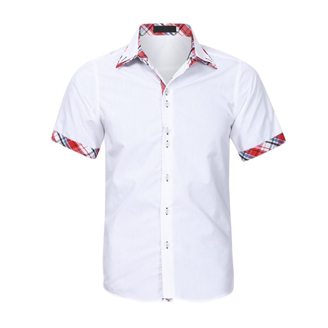Amazon.com: ihph7 para hombre blusa, verano doble cuello ...