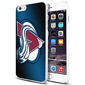 Zheng caseZheng caseNHL HOCKEY Colorado Avalanche Logo, , Cool iPhone 4/4s (6+ , ) Smartphone Case Cover Collector iphone TPU Rubber Case White [By PhoneAholic]