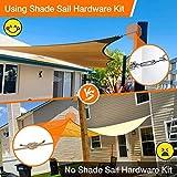 Sun Shade Sail Hardware Kit, 81 Pcs 304 Marine