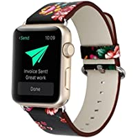 Wrist Watch Band, Winhurn NEW PU Leather Strap Replacement Belt for Apple Watch 42mm 2017 (E)