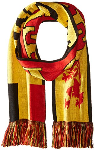 National Soccer Team Belgium Jacquard Knit Scarf, One Size, Red/Yellow/Black