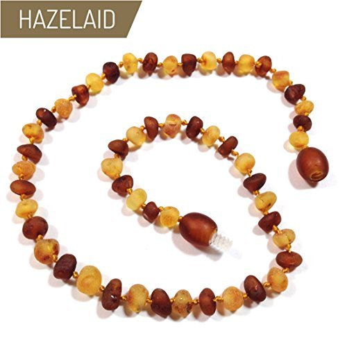 Hazelaid (TM) 14'' Twist-Clasp Baltic Amber Nutmeg & Lemondrop Necklace by HAZELAID