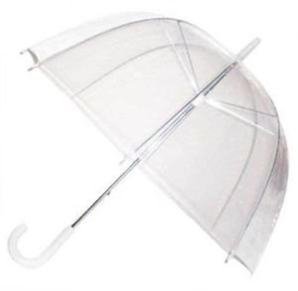 Ardisle Paraguas transparente con mango blanco, cúpula ...