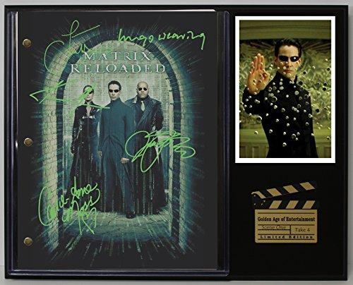Matrix Reloaded Ltd Edition Reproduction Movie Script Cinema Display -