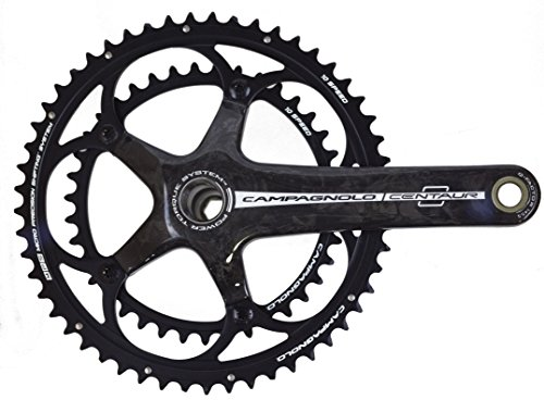 (Campagnolo Centaur 10-Speed Carbon Road Bicycle Power Torque Crank Set (Black - 34/50 x 175))