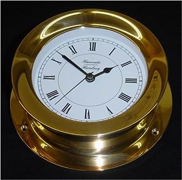 110 mm Messing leicht Uhr Schiffs-Instrument Schiffsuhr Quarz Batterie