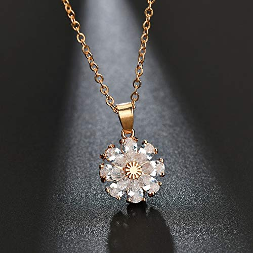 creative new street photograph star models show inlay diamond pendant necklace fashion flower orange peel zirconium copper