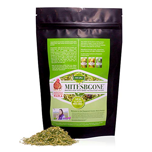 MitesBGone Backyard Chicken Nesting Herbs - Get Rid of Chicken Mites and Lice Naturally (4 pounds) from Pampered Chicken Mama