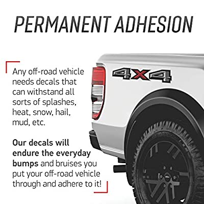 GOLD HOOK 2020 Ford F150 4x4 Decal FG Offroad Stickers Truck Bed Side Graphics (Set of 2): Clothing