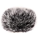 ChromLives Wind Muff H1 Windscreen Microphone Outdoor Furry Windscreen 2.5'X 40mm (L x D) Mic Windscreen Wind Cover for Zoom H1 Apogee Mic and More, Black
