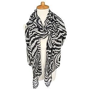 GERINLY Scarves – Animal Print Shawl Wraps Fashion Zebra Pattern Scarf for Women