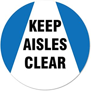 "Coronavirus Keep Aisle Clear Non-Slip Floor Graphic 12 Pack of 16"" Vinyl Decal Protect Your Business, Work Place & Customers  Made in The USA"
