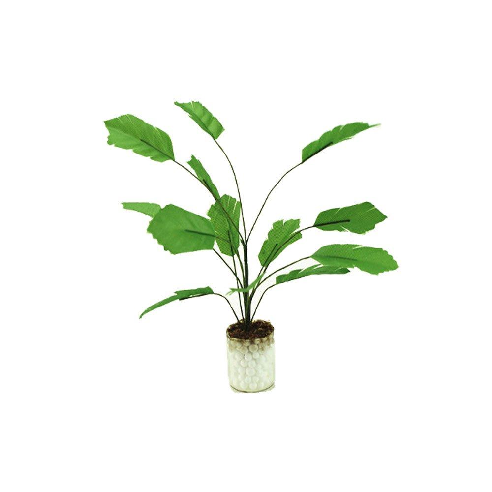 1:12 Green Banana Tree in White Pot Dollhouse Miniature Garden Plant Decor