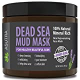 """ASUTRA Organic Dead Sea Mud Mask,""""LAVENDER BLEND"""" + FREE Applicator Brush, Combat Acne, Oily Skin & Blackheads, Minimize Pores, For Smooth, Beautiful & Healthy Looking Skin, 16 oz Review"""