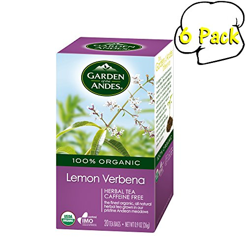 - Garden of the Andes Lemon Verbena Organic Tea, 0.9 oz, 20 Count (Pack of 6)