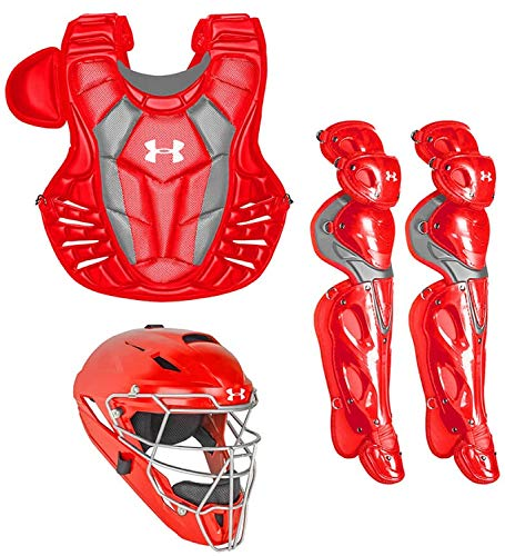 Under Armour Converge Pro Youth 9-12 Catchers Gear Set, Scarlet ()
