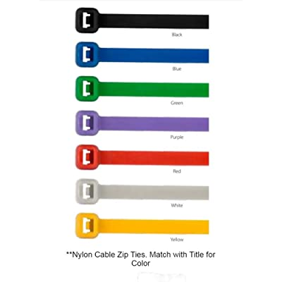 "GG Grand General 63011 Nylon Cable Zip Ties (6\""x1/8\"" Blue): Automotive [5Bkhe2001994]"