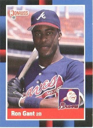 Amazoncom 1988 Donruss Baseball Card 654 Ron Gant Mint