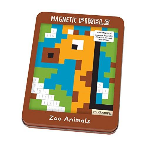 Mudpuppy Zoo Animals Magnetic Pixels