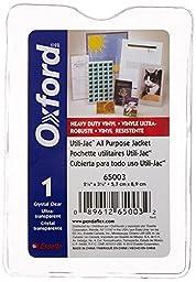 Oxford 65003 Utili-jacs clear vinyl envelopes, top load, 2-1/4x3-1/2 insert size, 50/box
