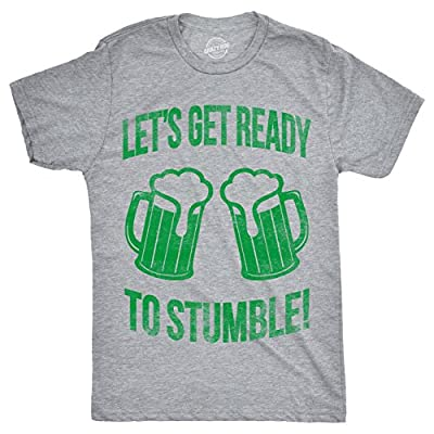 Mens Lets Get Ready to Stumble T Shirt Funny St Saint Patricks Day Drinking Tee