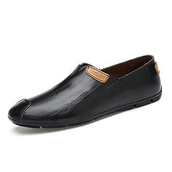 FuweiEncore Zapatillas Mocasines para Hombres, Mocasines de conducción de Moda para Hombres, cómodos, Mocasines cómodos, Zapatos Ligeros (Color: Negro, ...