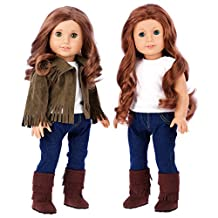 Siege Jacket - 4 piece outfit - jacket, tank top, jeans and boots - 18 inch doll clothes (doll not included)