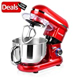 Hornbill Tilt-head Stand Mixer, Electric Mixer 600W 6-Speed...
