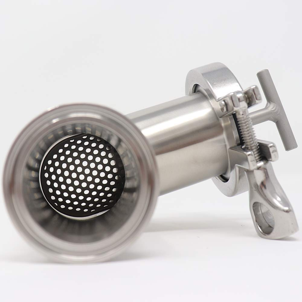1.5 Connection Size 1//8 Perforated Sani-Matic Tee-Line Strainer