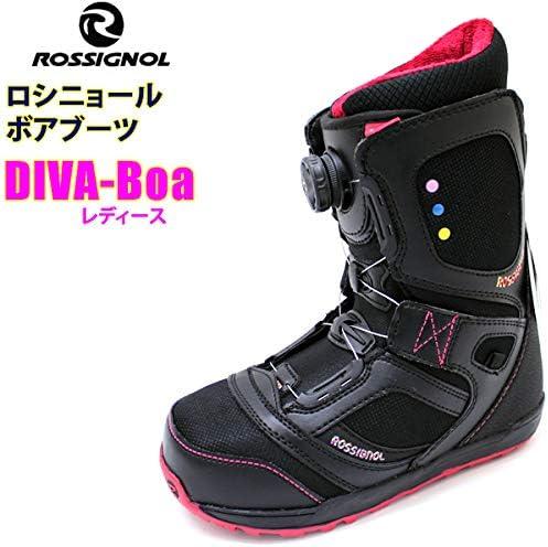 ロシニョール ロシニョール レディース スノーボードブーツ DIVA-BOAブーツ/黒-ピンク ボアシステム ROSSIGNOL スノーボードブーツ  24.5cm