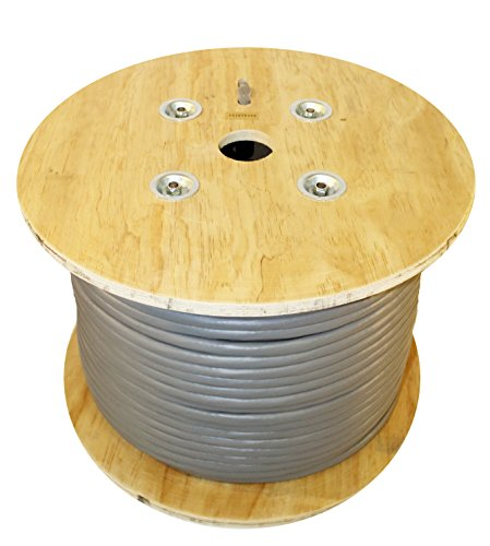 Infinity Cable CAT5E 350MHz CMR/Riser Rated 25 Pair Solid, 500Ft. Wood Reel Bulk Cable, Gray (100% Pure Copper) (Cable Pair 25 Bulk)