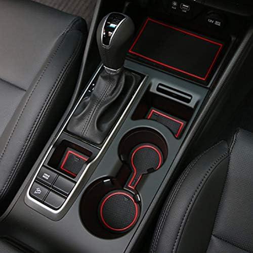 TAYDMEO 16pcs Car Styling For Hyundai Tucson TL 2015-2020,Gate slot pad Interior Door Groove Mat Non-slip dust Accessories mat