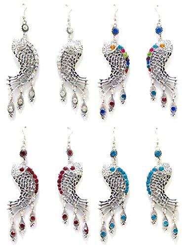 Linpeng 4 Pairs Chandelier Earrings for Women Girls/Dangle Drop Earrings/Size Around Length 2.5