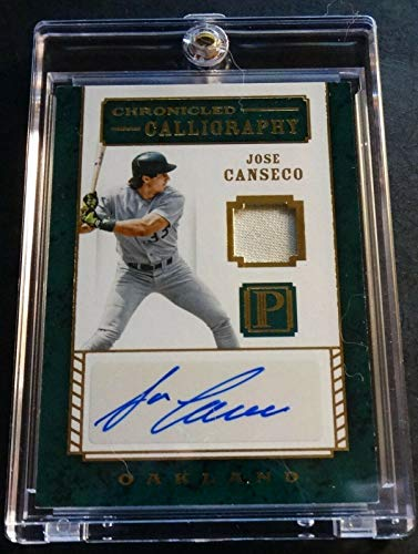 2016 JOSE CANSECO PANINI PANTHEON GOLD AUTO JERSEY 07/25 - JC Oakland A's (522) ()