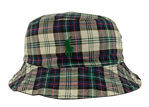 Polo-Ralph-Lauren-Mens-Reversible-Solid-Tartan-Bucket-Hat