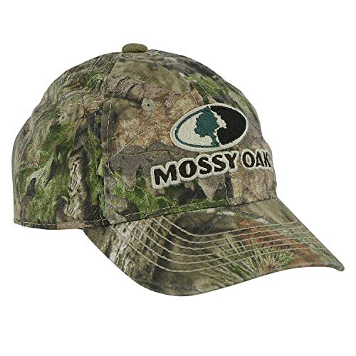 Mossy Oak Youth Contrast Stitch Logo - Adjustable Cap Camo Youth