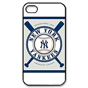 MLB iPhone 4,4S White New York Yankees cell phone cases&Gift Holiday&Christmas Gifts NADL7B8824381