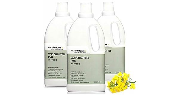 Naturehome alérgicos bio lavandería Pur Líquido lavandería ...